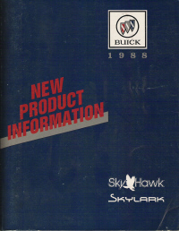 1988 Buick Skyhawk, Skylark New Product Information