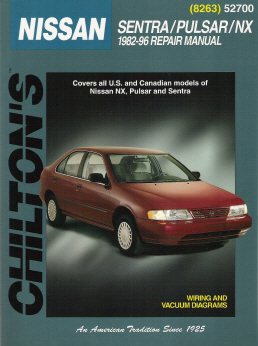 1982 - 1996 Nissan Sentra, Pulsar, NX, Chilton's Total Car Care Manual