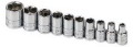 "10-Piece 1/4"" Drive 6-Point Socket Set- Standard Fractional"