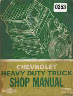 1969 Chevrolet Heavy Duty Trucks Shop Manual