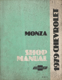 1979 Chevrolet Monza Shop Manual