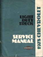 1978 Chevrolet / GMC Light Duty Truck Service Manual (Series 10 - 35)