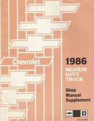 1986 GMC Medium Duty Truck Service Manual Supplement