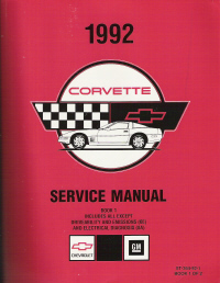 1992 Chevrolet Corvette Factory Service Manual - 2 Volume Set