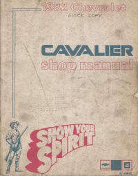 1982 Chevrolet Cavalier Factory Service Manual