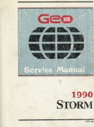 1990 Geo Storm Service Manual Includes Electrical Diagnosis Supplement Manual