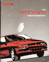 1992 Geo Storm Factory Service Manual