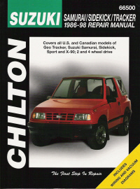 1986 - 1998 Suzuki Samurai, Sidekick, Tracker, Chilton's Total Car Care Manual