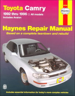 1992 - 1996 Toyota Camry & Avalon Models, Haynes Repair Manual