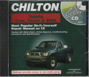 1983 - 2000 Chilton's TOYOTA Cars, Trucks & SUVs Repair CD-ROM