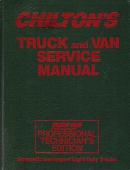 1991 - 1995 Chilton's Truck, Van & SUV Service Manual , Shop Edition