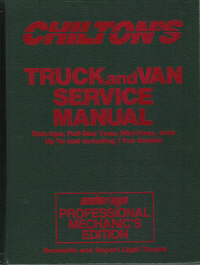 1982 - 1988 Chilton's Truck & Van Service Manual & Labor Guide