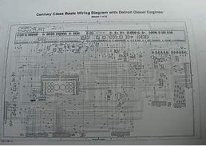 2000 - Up  Freightliner Century / Columbia Class Wiring Diagrams w/ Detroit Diesel Engines