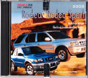 2003 Isuzu Rodeo Factory Service & Electrical Troubleshooting CD-ROM