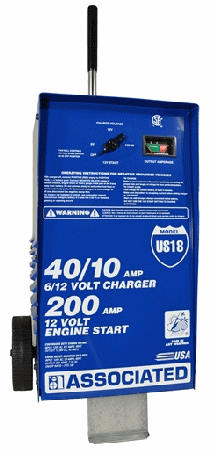 Associated 40/40/10 Amp Wheeled Battery Charger