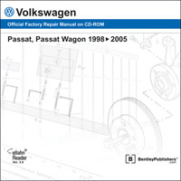 1998 - 2005 Volkswagen Passat, Passat Wagon Official Factory Repair Manual on DVD