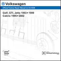 1995 - 2002 Volkswagen Cabrio; 1993 - 1999 Golf, GTI & Jetta Official Factory Repair Manual on CD-ROM