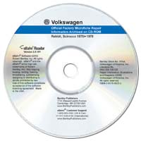 1975 - 1978 Volkswagen Rabbit & Scirocco Official Factory Microfiche Archived on CD-ROM