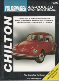 1970 - 1981 Volkswagen Air Cooled, Chilton's Total Car Care Manual