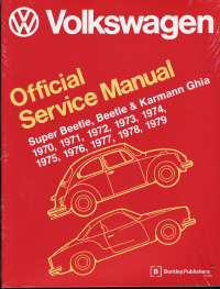 1970 - 1979 Official Factory Volkswagen Type 1: Beetles,  Super Beetles, VW Convertibles & Karmann Ghias Official Service Manual