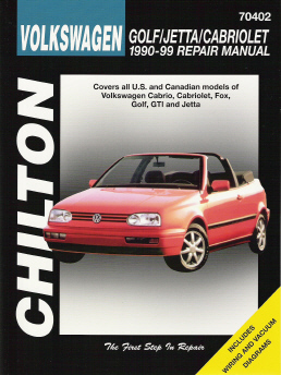 1990 -1998 Volkswagen Golf / Jetta / Cabriolet, Chilton's Total Car Care Manual