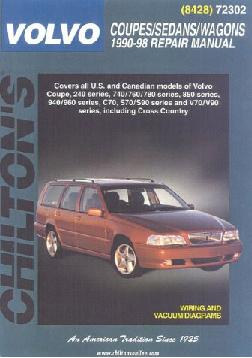 1990 - 1998 Volvo Coupes, Sedans & Wagons, Chilton's Total Car Care Manual