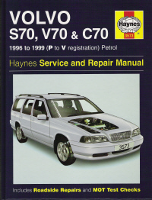 1996 - 1999 Volvo S70 Saloon, V70 Estate & C70 Coupe including Turbo & T5 Versions Haynes Repair Manual