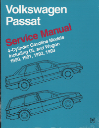 1990 - 1993 Volkswagen Passat, Passat GL & Wagon Original Factory Repair Manual