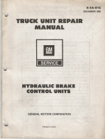 1979 GM Truck Unit Repair Manual - Hydraulic Brake Control Units