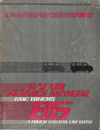 1985 GMC Safari Van Factory Service Manual
