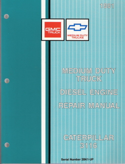 1991 GMC Medium Duty Truck 3116 Caterpillar Diesel Engine Factory Repair Manual