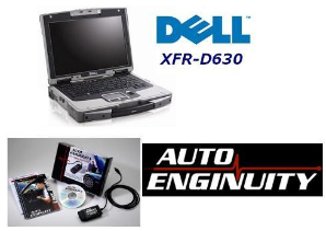 Auto Enginuity SP03 FORD Auto & Truck OBD-II Enhanced Software Bundle & Dell XFR-D630 Fully Rugged Laptop