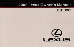 2003 Lexus ES 300 Owner's Manual