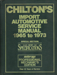1965 - 1973 Chilton's Import Auto Service Manual