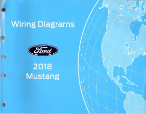 2018 Ford Mustang OEM Factory Wiring Diagram Schematics Manual