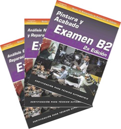 SPANISH VERSION: ASE Test Prep Manuals -- Collision B2 - B6; 5 Volume Set