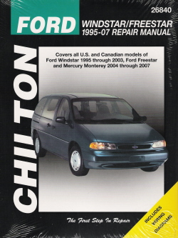 1995  - 2007 Ford Windstar/Freestar, Chilton's Total Car Care Manual