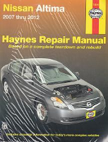 2007 - 2012 Nissan Altima Haynes Repair Manual