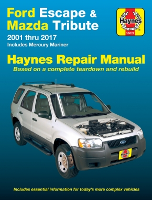 2001 - 2017 Ford Escape, Mazda Tribute, & 2005 - 2011 Mercury Mariner Haynes Repair Manual