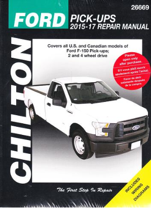 2015 - 2017 Ford F150 Pick-Ups 2/4WD Chilton's Repair Manual