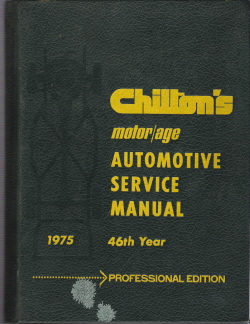 Chilton 1968-1975 Automotive Service Manual