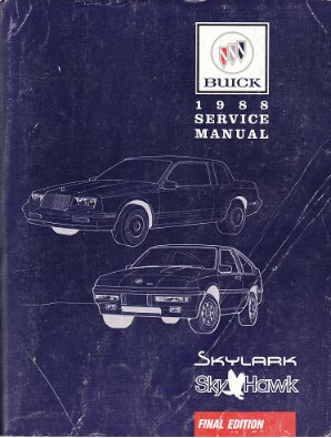 1988 Buick Skylark & Sky Hawk Factory Service Manual