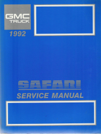 1992 GMC Safari Service Manual