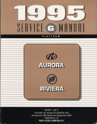1995 Oldsmobile Aurora and Buick Riviera Factory Service Manual - 2 Volume Set