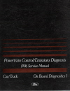 1996 Ford Car/Truck OBD-I Powertrain Control/Emissions Diagnosis Factory Service Manual