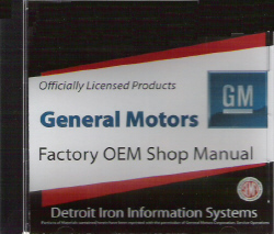 1969 Chevrolet Factory Shop Manual on CD-ROM