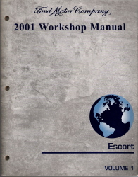 2001 Ford Escort Workshop Manual-2 Volumes