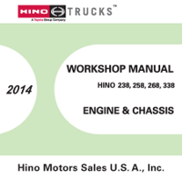 2014 Hino Service Manual, Engines & Chassis All Models CD-ROM