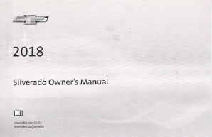 2018 Chevrolet Silverado Owner's Manual Portfolio