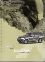 2002 Ford Explorer Owner's Manual with Case